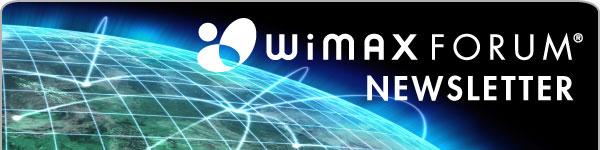 WiMAX Forum Newsletter Header